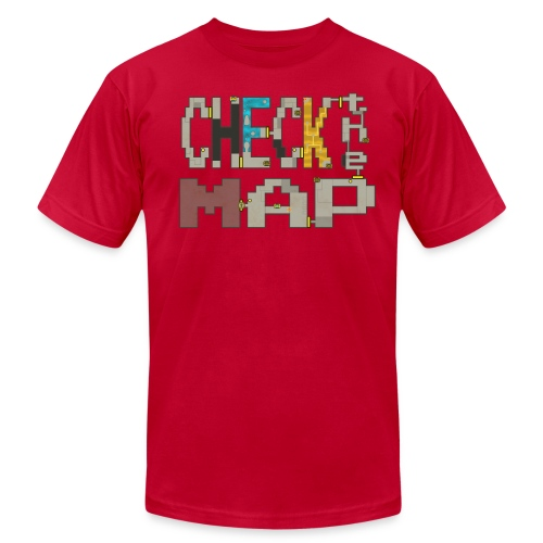 Check the Map - Men's Jersey T-Shirt