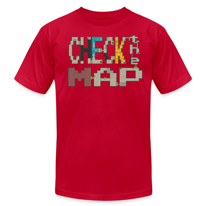Check the Map - Men's T-Shirt by American Apparel