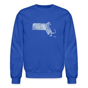 Massachusetts Fingerprint - Crewneck Sweatshirt
