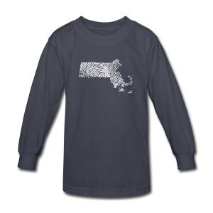 Massachusetts Fingerprint - Kids' Long Sleeve T-Shirt