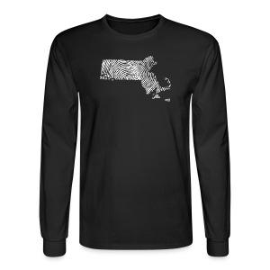 Massachusetts Fingerprint - Men's Long Sleeve T-Shirt