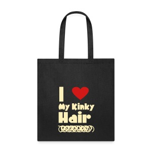 I Love My Kinky Hair Bag - Tote Bag