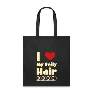 I Love My Coily Hair Bag - Tote Bag