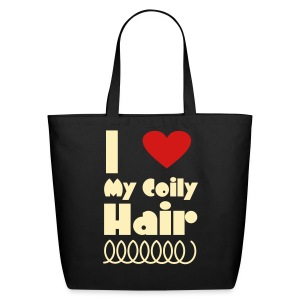 I Love My Coily Hair Bag - Eco-Friendly Cotton Tote
