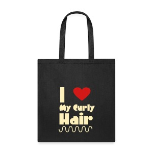 I Love My Curly Hair Bag - Tote Bag