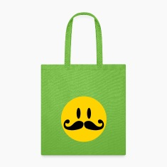 Mustache Smiley Bags & backpacks