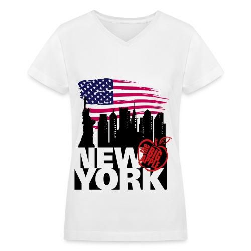 i love new york city - Women's V-Neck T-Shirt