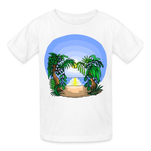 White beach T-shirt - Kids' T-Shirt