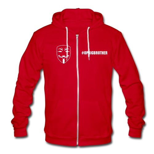 #OpBigBrother  - Unisex Fleece Zip Hoodie