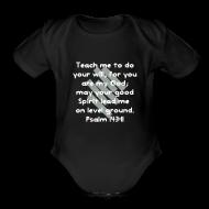 Baby Bodysuits ~ Baby Short Sleeve One Piece ~ Teach Me God