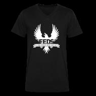 T-Shirts ~ Men's V-Neck T-Shirt by Canvas ~ Men's V-Neck T-Shirt - White Logo