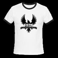 T-Shirts ~ Men's Ringer T-Shirt ~ Men's Ringer T-Shirt - Black Logo