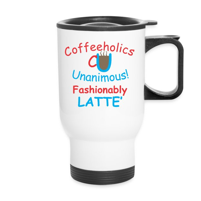 CU fashionably latte' travel mug