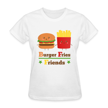 burger and fries friends BFF Women's T-Shirts