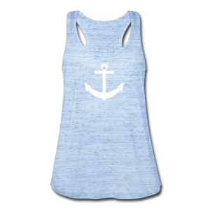 Heather Blue Anchor Tank Top  - Women's Flowy Tank Top by Bella