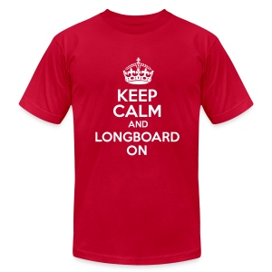 Keep Calm And Longboard On Tee - Men's T-Shirt by American Apparel
