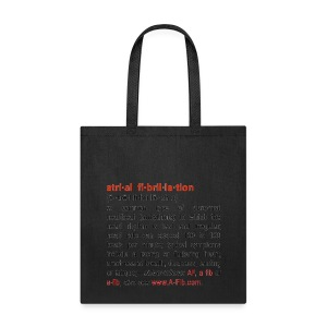 A-Fib definition^ - Tote Bag