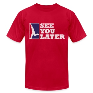 See You Later - Men's AA Red - Men's T-Shirt by American Apparel