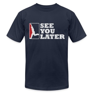 See You Later - Men's AA Navy - Men's T-Shirt by American Apparel