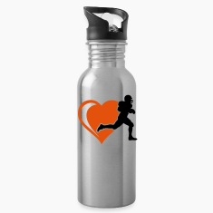 football heart Bottles & Mugs