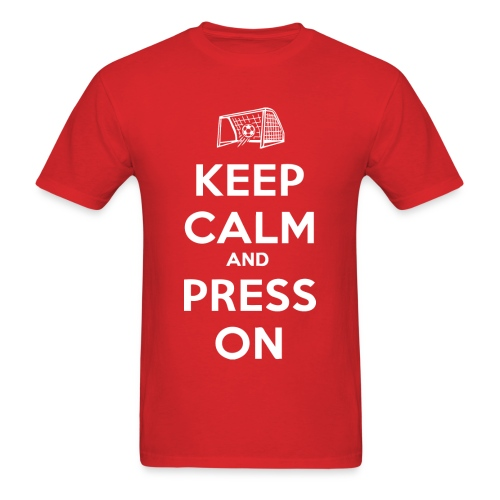 Christen Press - Keep Calm and Press On Shirt - Men's T-Shirt