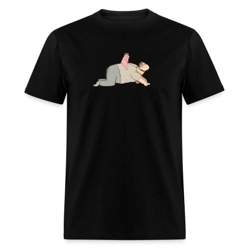 Anus Man Mounting Wingsie - Men's T-Shirt