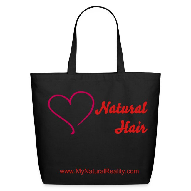 I love my natural hair - eco friendly tote bag