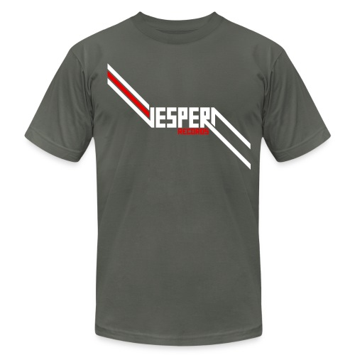 Vespera Records T-Shirt - AA - Asphault - Men's T-Shirt by American Apparel