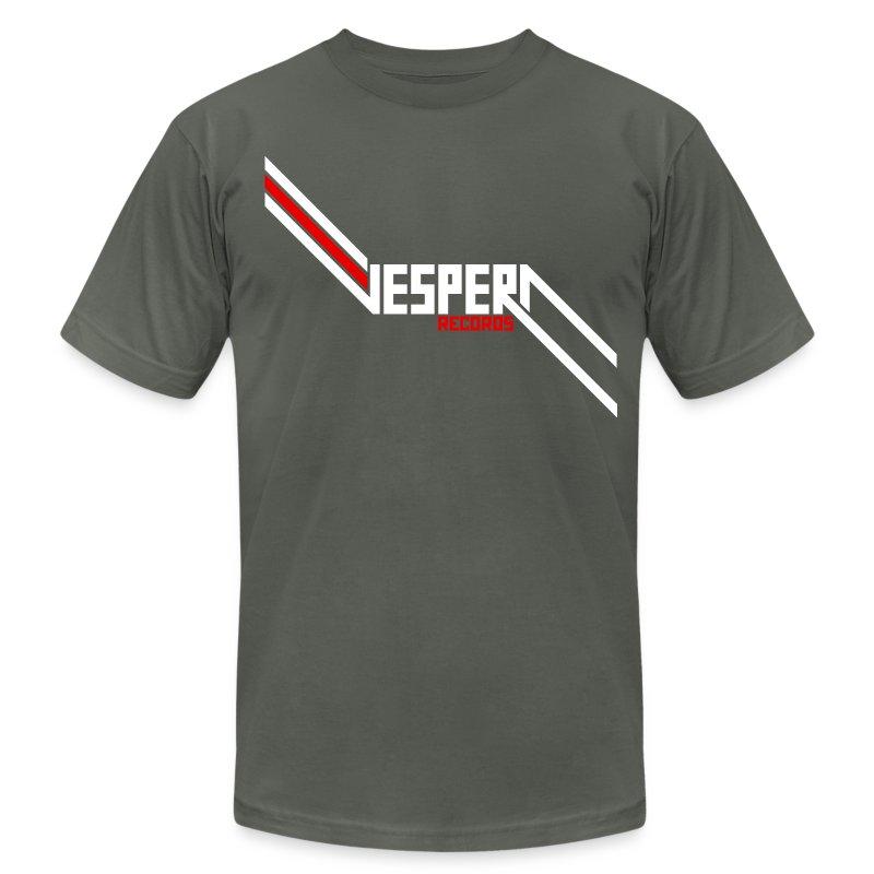 Vespera Records T-Shirt - AA - Asphault - Men's Fine Jersey T-Shirt