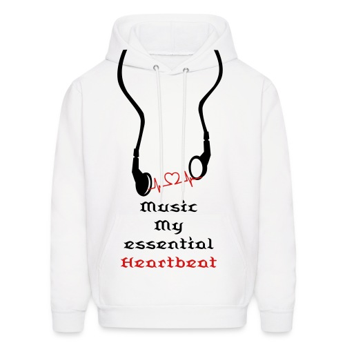 Music my essential Heartbeat - Men's Hoodie