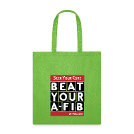 Bags & backpacks ~ Tote Bag ~ Seek Your Cure BeatYourA-Fib^*