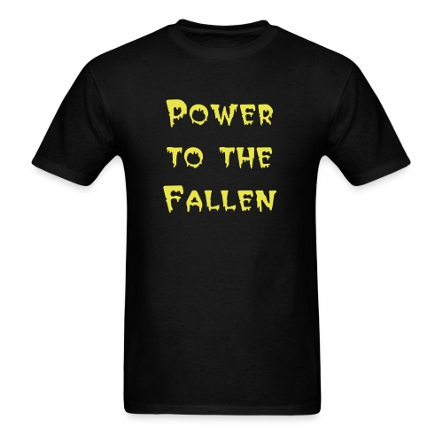 Men's Black Tee with Band Name - Men's T-Shirt