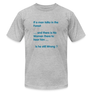 Man in the Forest - Men's Fine Jersey T-Shirt