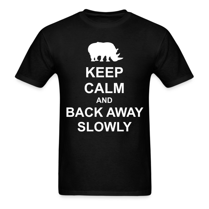 Men's Classic-cut shirt Keep Calm and Back Away Slowly | Major Tees - Men's T-Shirt