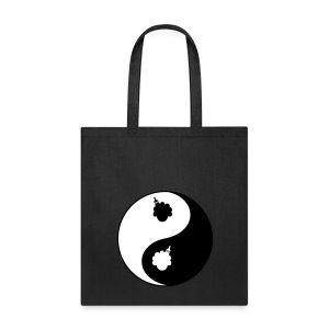 Women's Afro Ying and Yang Bag - Tote Bag