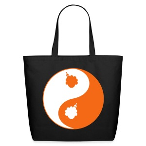 Women's Afro Ying and Yang Bag - Eco-Friendly Cotton Tote