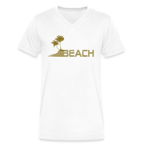 Beach V-Neck - Men's V-Neck T-Shirt by Canvas