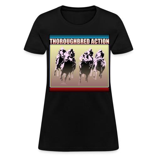 Thoroughbred Action 15 - Women's T-Shirt