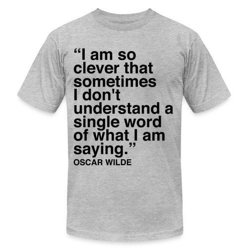 Oscar Wilde Clever Quote Men's - Men's Fine Jersey T-Shirt