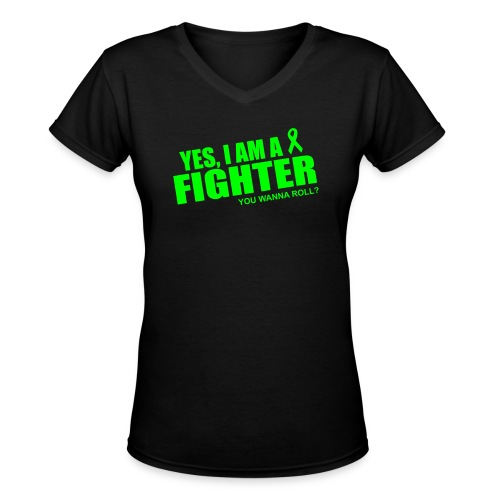 LA Fighclub - Women's V-Neck T-Shirt