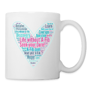 Mugs & Drinkware ~ Coffee/Tea Mug ~ Skinny Heart Life without A-Fib Seek your Cure/*
