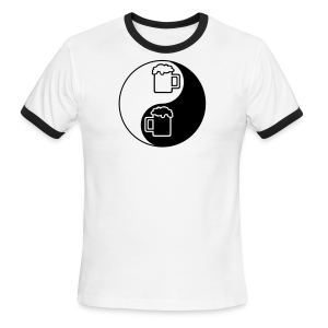 Yin-Yang Beer Mugs Men's Ringer T-Shirt  - Men's Ringer T-Shirt