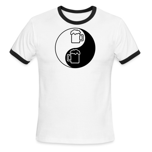 Yin-Yang Beer Mugs Men's Ringer T-Shirt  - Men's Ringer T-Shirt