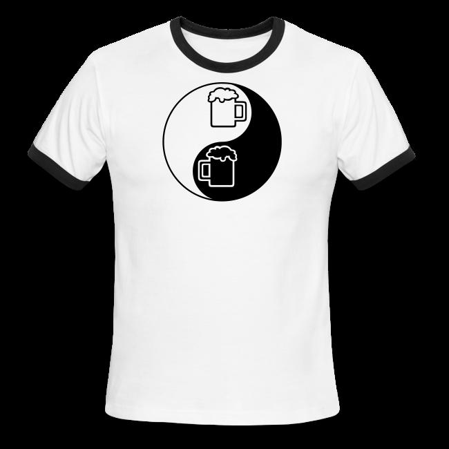 Yin-Yang Beer Mugs Men's Ringer T-Shirt