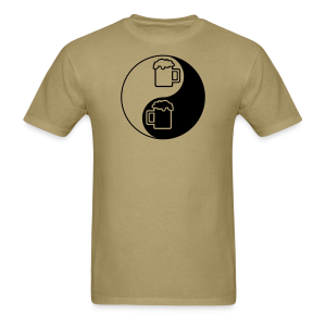 Yin-Yang Beer Mugs Men's T-Shirt  - Men's T-Shirt