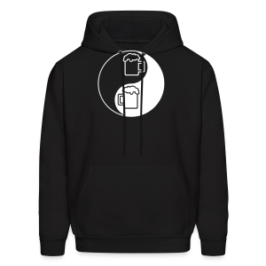 Yin-Yang Beer Mugs Men's Hooded Sweatshirt  - Men's Hoodie