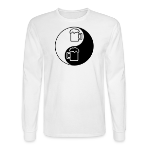 Yin-Yang Beer Mugs Men's Long Sleeve T-Shirt - Men's Long Sleeve T-Shirt