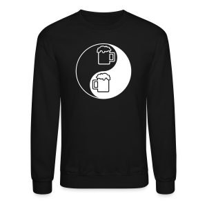 Yin-Yang Beer Mugs Men's Crewneck Sweatshirt  - Crewneck Sweatshirt
