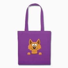 Funny cute Fox Bags & backpacks