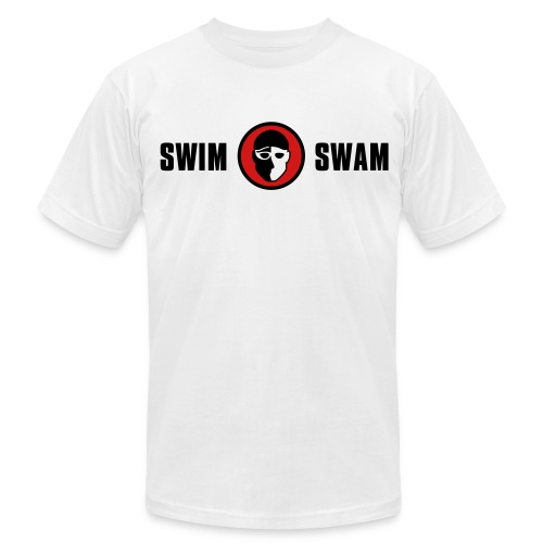 SwimSwam Classic Men's American Apparel (White) - Men's Fine Jersey T-Shirt